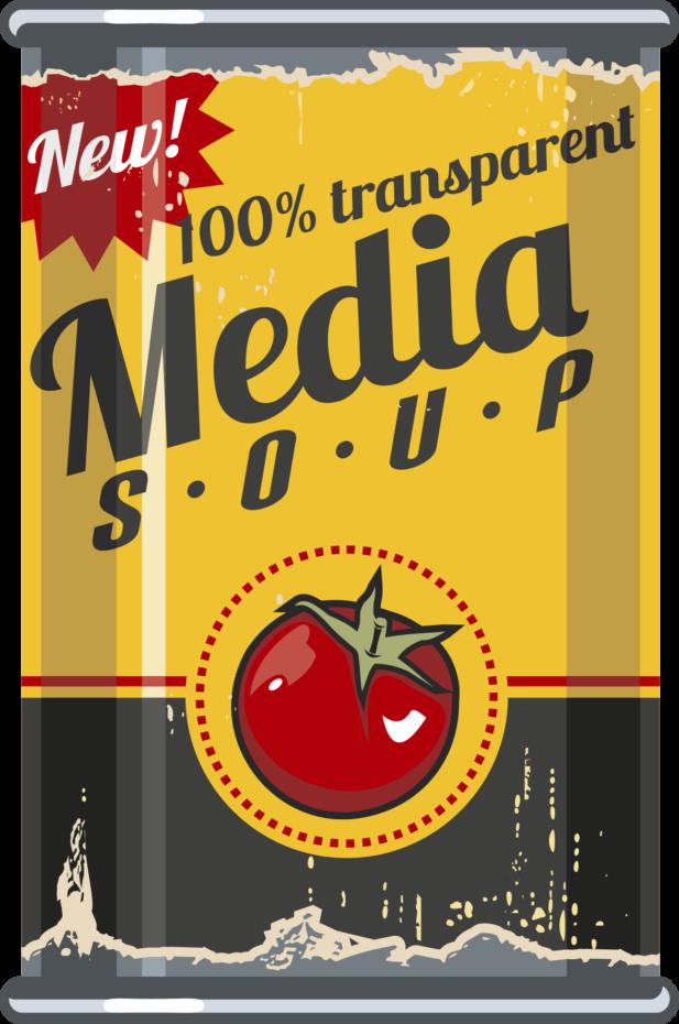 Mediatoimisto Lumeton 100% transparent media soup purkki
